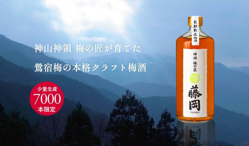 長期熟成梅酒 神領 梅の匠 藤岡 720ml